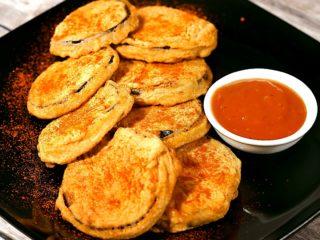 Crispy Eggplant Fritters -