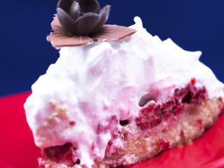 Raspberry Meringue Cake -