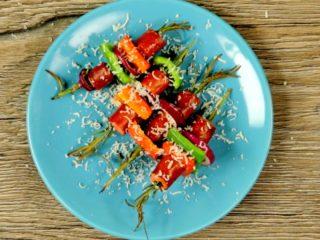 Sausage on Rosemary Sprig Skewers -