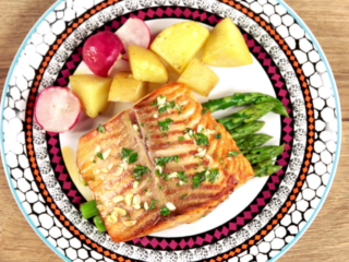 Sweet and Sour Salmon with Vegetables -