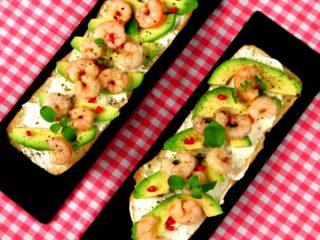 Shrimp and Avocado Ciabatta Sandwich -