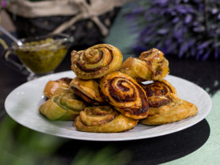 Prosciutto Pastry Rolls Cooked Two Ways -