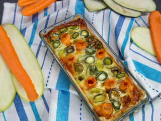 Cheese and Veggie Roll Casserole -