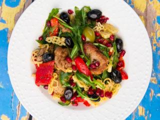 Pork Tenderloin Pasta Salad -
