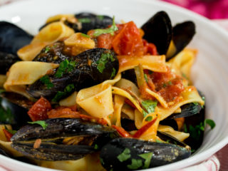 Pappardelle with Mussels and Anchovies -