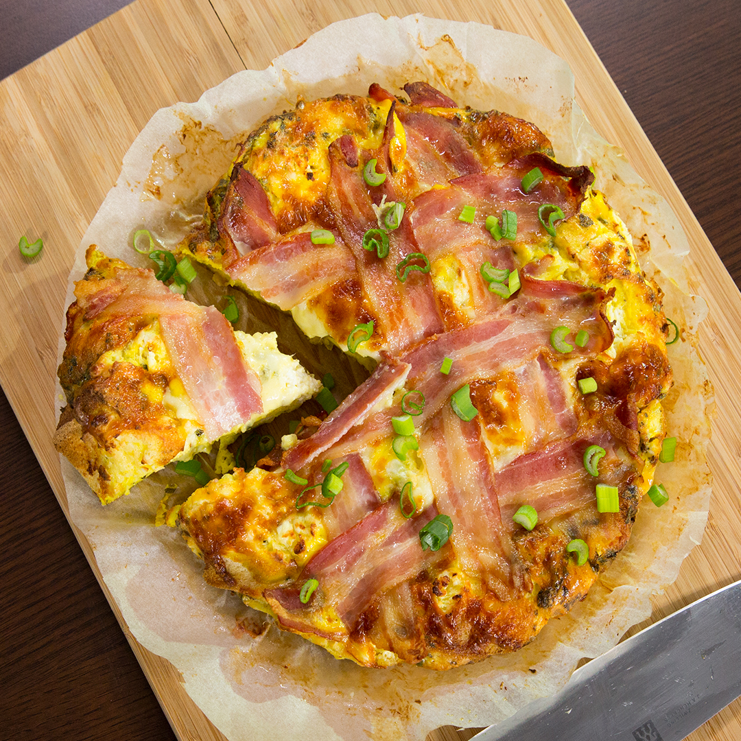 Bread and Cheese Baked Omelet -