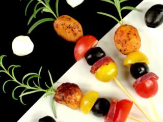 Chorizo and Baby Potato Skewers -