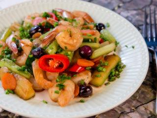 Shrimp and Zucchini Skillet -