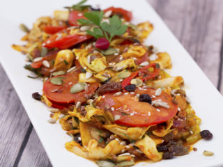 Sweet and Spicy Cabbage Stir-Fry -