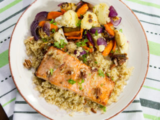 Roasted Salmon with Quinoa and Veggies -