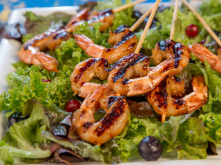 Grilled Soy Marinated Shrimp -