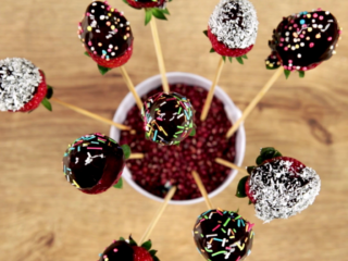Chocolate and Sprinkles Covered Strawberries -