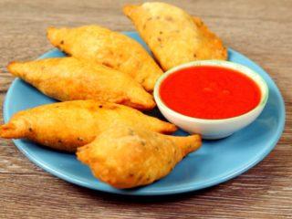Spicy Potato and Pea Samosas -