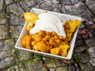 Celery Root, Cauliflower and Chickpea Stew -