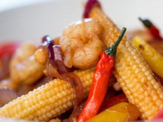 Spicy Shrimp Stir-Fry -