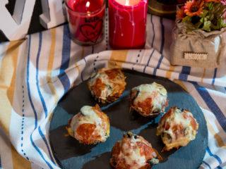 Pepperoni and Mozzarella Muffins -