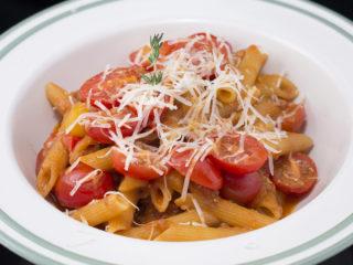 Cherry Tomatoes and Tuna Penne -