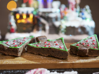 Christmas Tree Chocolate Brownies -