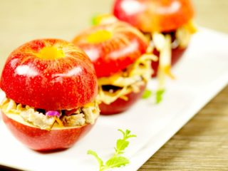 Pulled Pork and BBQ Sauce Stuffed Apples -