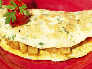 Potato and Grilled Pepper Omelet -