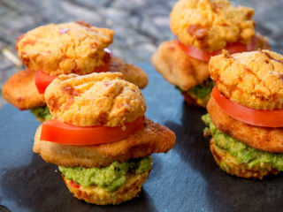 Chicken Muffin Sandwiches -