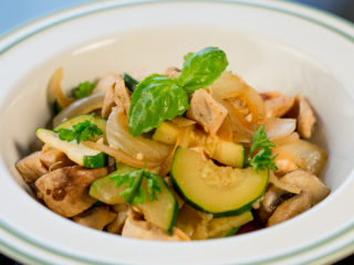 Chicken, Zucchini and Mushroom Stew -