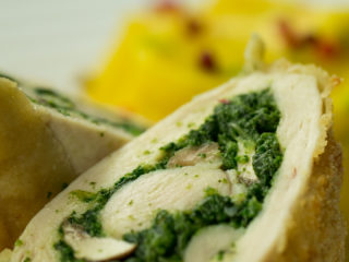 Spinach Stuffed Chicken Roll -
