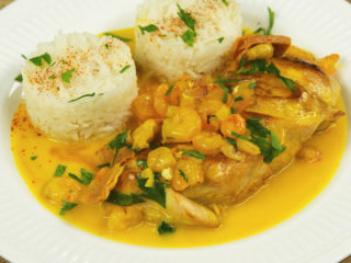 Chicken and Shrimp in Coconut Milk -