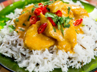 Chicken Curry with Basmati Rice -