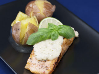 Pan-Fried Salmon with Ginger and Butter Sauce -