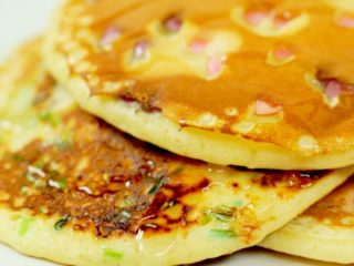 Pancakes with Sprinkles and Honey -