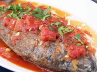Sea Bream with Tomato Sauce and Rice -