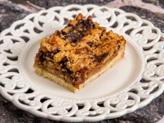 Dark Chocolate and Walnut Pie -