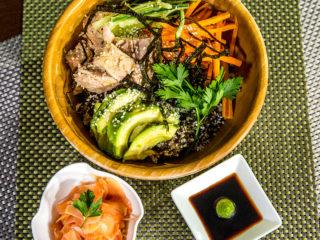 Black Rice, Quinoa and Tuna Bowl -