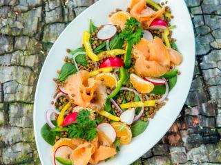 Smoked Salmon and Lentil Salad -
