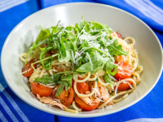 Smoked Salmon and Anchovy Spaghetti -