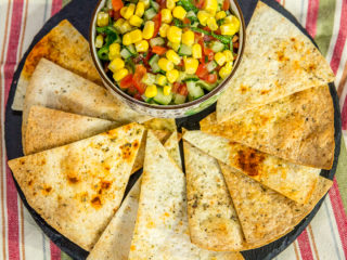 Spiced Roast Tortilla with Guacamole -