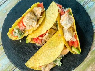 Salmon and Veggie Tacos -