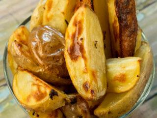 Garlic and Rosemary Roasted Potatoes -