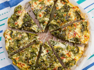 Cheese and Spinach Omelet Pie -