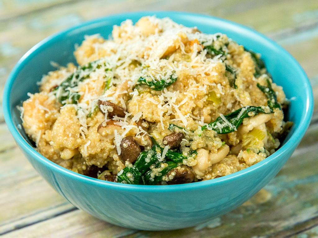 Chicken and Mushroom Quinoa Risotto