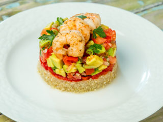 Shrimp, Avocado, and Quinoa Risotto
