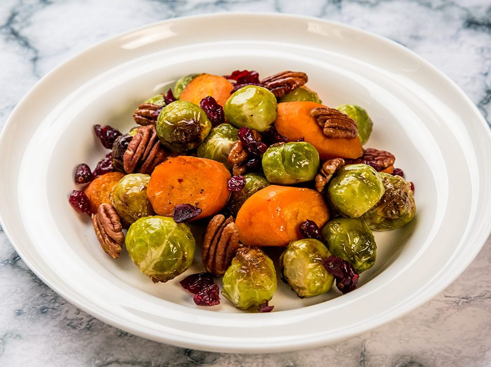 Roasted Brussels Sprouts and Carrots -