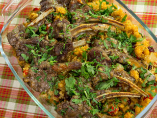 chickpeas-and-bulgur-lamb-chops