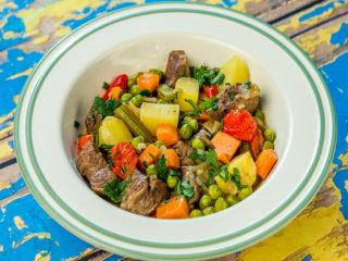 Potato and Pea Lamb Stew
