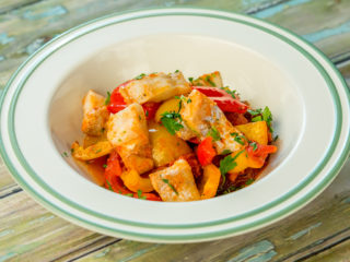cod and veggie stew