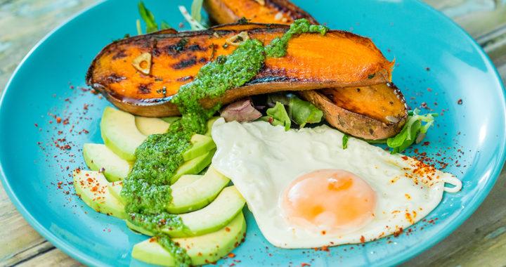 Fried Egg and Sweet Potato Breakfast