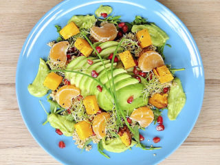 Quinoa Salad with Avocado and Roast Squash