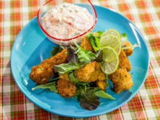 Fish Fingers and White Sauce