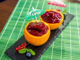 Berry and Honey Filled Orange Rind